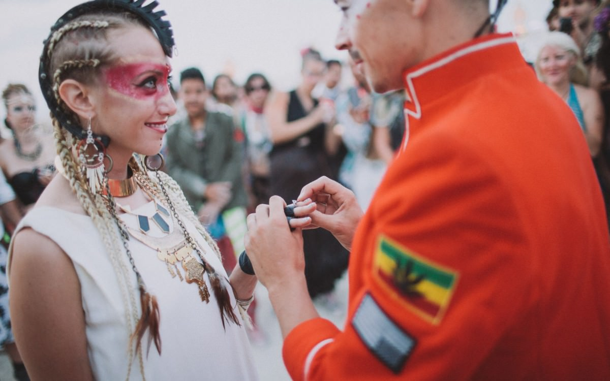 Amanda & Chris - A Burning Man wedding