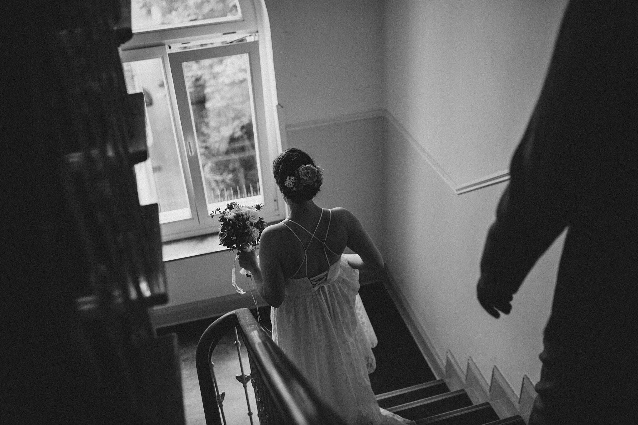Urbane Indie Hochzeitsfotos Freie Trauung in Hadleys Cafe Hamburg