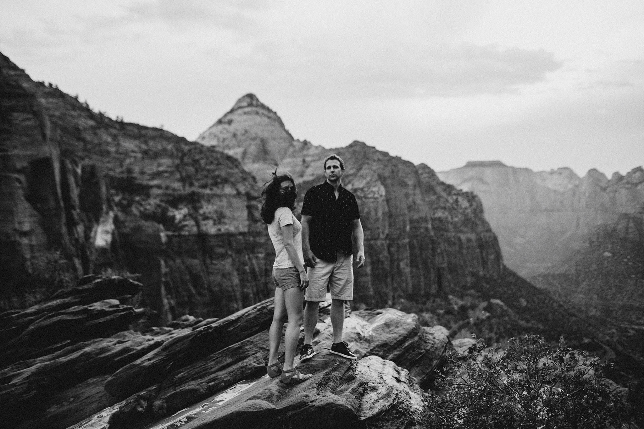 Wedding anniversary photos Zion National Park Utah